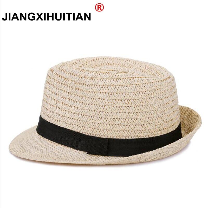 2018 New Women Hat Para Homens Chapéu de Praia do Verão das Senhoras Trilby  Gangster Palha cc461f8b4d3