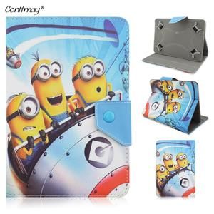 Tablet PC Case For Samsung Galaxy 70 Stand Cover Despicable ME Minions Cartoon