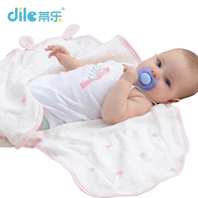 Dile Baby Bedding Swaddle Baby Swaddle Wrap Soft For Newborn Baby Blanket Sleepsack etamine Sleeping Bag Infant product