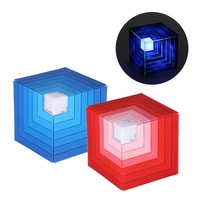 Hot Cubic Rainbow Mini Bluetooth speaker Portable Wireless speaker Super Bass Stereo Sound LED dancing lights Support Sd Card