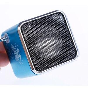 Image 3 - Rovtop mini receptor de rádio fm portátil, TD V26, digital, com tela lcd, alto falante estéreo, suporta cartão micro tf