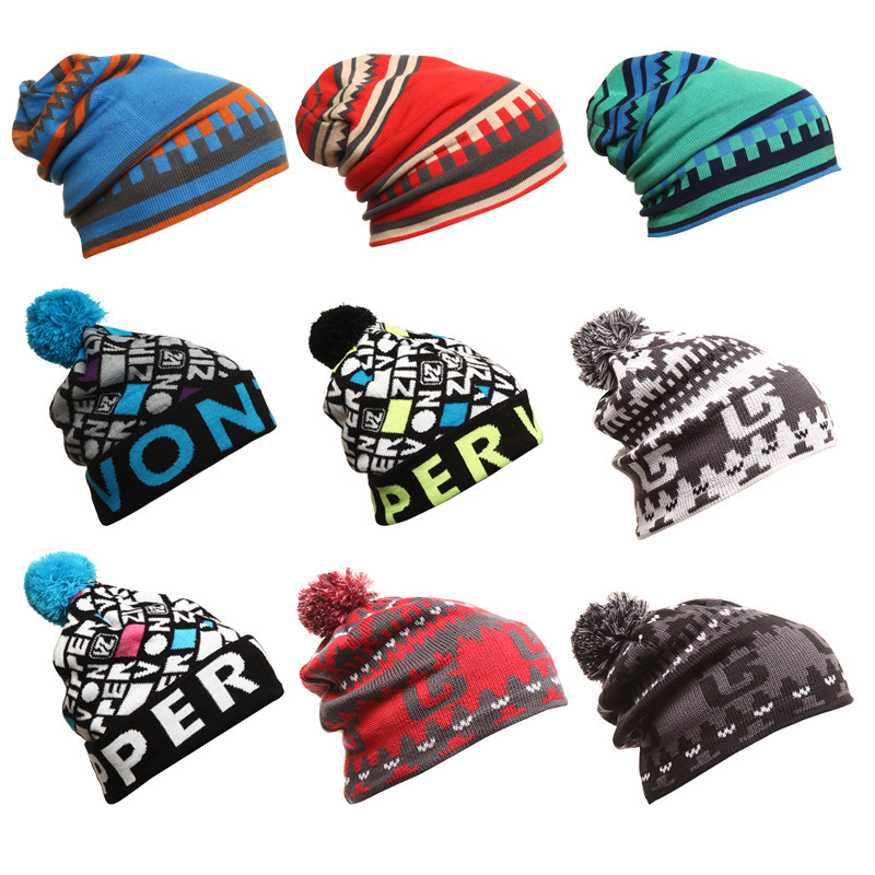 Snowbord Winter Warm Hats Ski Skating Caps Sports Beanies Knitting Wool Cap  For Kids Children boys girl Gorros Knitted Skullie Y-in Hats   Caps from  Mother ... 2a9feddb1ced