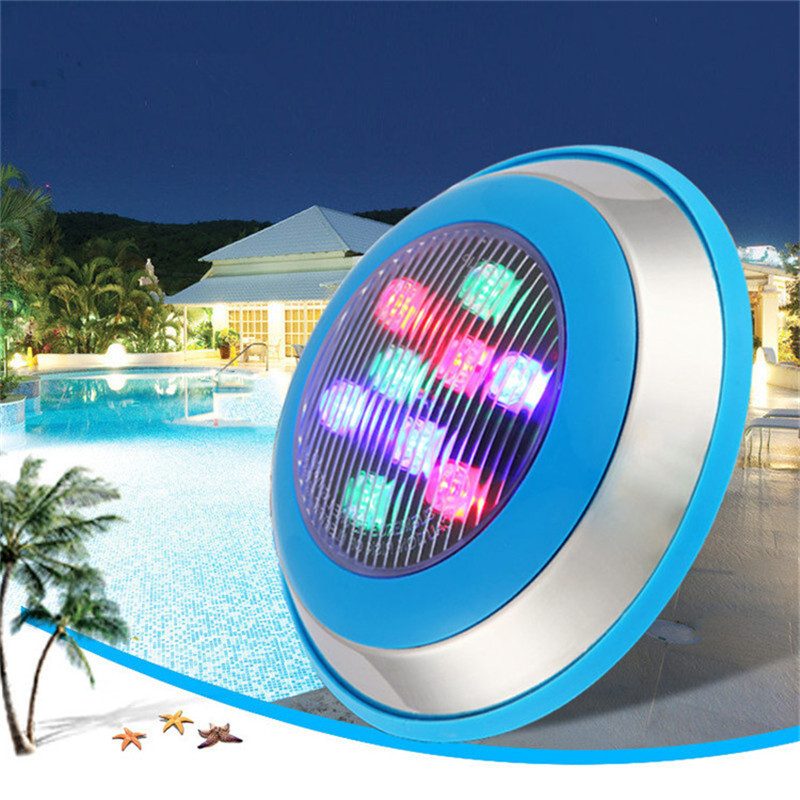 LED RGB Underwater Swimming Pool Light 6W 9W 12W Multi Color 12V 24V Outdoor Lighting Waterproof Underwater Lamp High Power LED in LED Underwater Lights from Lights Lighting