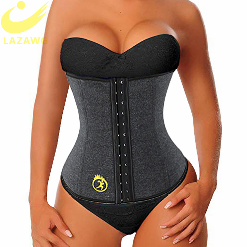 LAZAWG Women Waist Trainer Tummy Control Belt Trimmer Weight Lost Corset Neoprene Sweat Sauna Strap Slimming Underwear