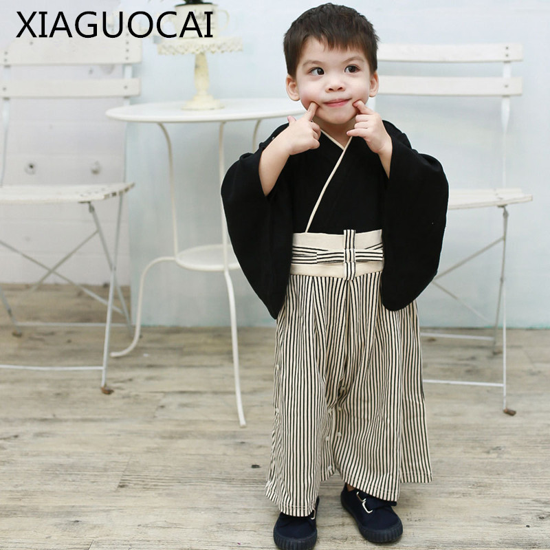 Japanese Style Baby Rompers Boys Clothes Costume Yamato Nationl Costumes Kimono Girls Baby Jumpsuit Newborn Rompers 3-24M C33 10