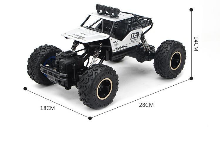 Jouets pour enfants adultes 1:16 4 canaux 4WD 2.4G haute vitesse pistolet type télécommande RC dérive escalade voiture de fond jeep enfants cadeau - 6