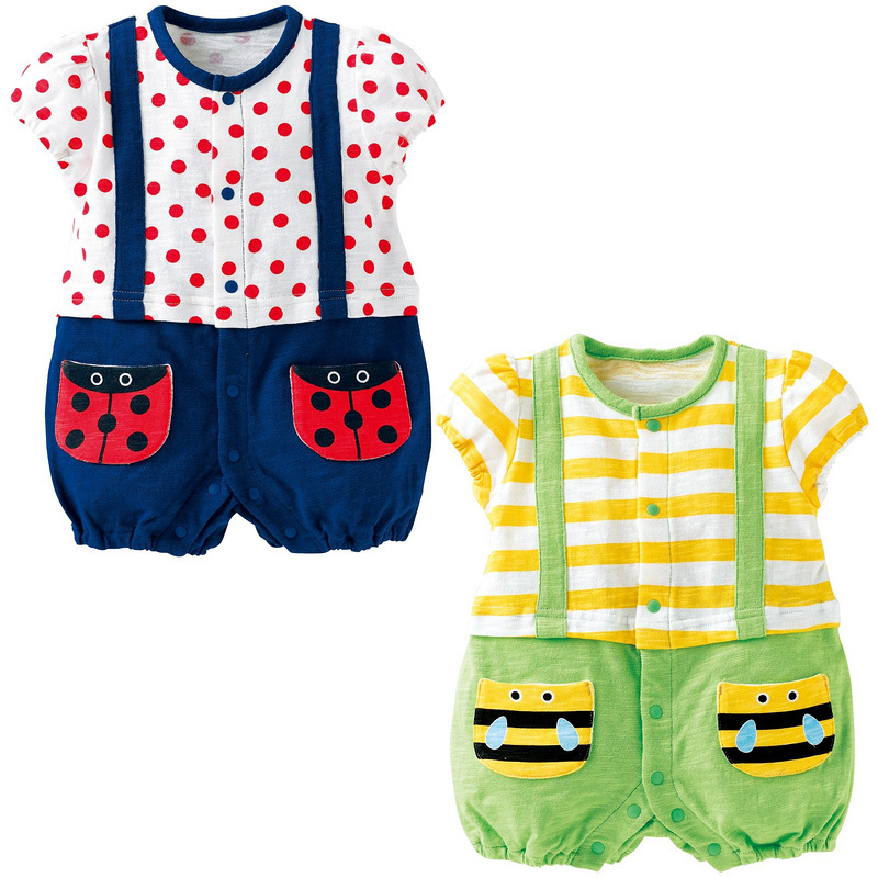 f72f3cccde8b 2015 Baby Girl boy clothing Romper newborn one piece infant Jumpers ...