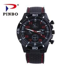 2016 New PINBO Brand Men Sports Quartz Watch Men Silicone Strap Military Wrist Watches Relogio Masculino Clock Hot Sale