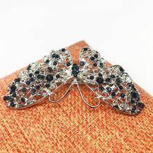 Заколки бабочки головной убор хрустальные аксессуары свадебные