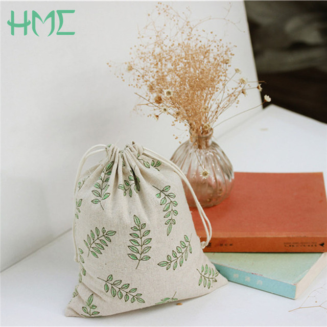 Cotton Canvas Olive Leaves Printed Bags