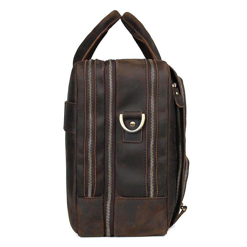 HTB1wCy6QNnaK1RjSZFtq6zC2VXaW MAHEU Vintage Leather Mens Briefcase With Pockets Cowhide Bag On Business Suitcase Crazy Horse Leather Laptop Bags 2019 Design