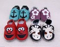 Fedex free Soft sole Leather Baby Boys Girls Infant Shoes Slippers animal New baby moccasins Skid-Proof Kids Shoes footwear