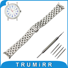 18mm 20mm 22mm Stainless Metal Watch Band for Timex Weekender Expedition Males Ladies Butterfly Buckle Strap Wrist Belt Bracelet
