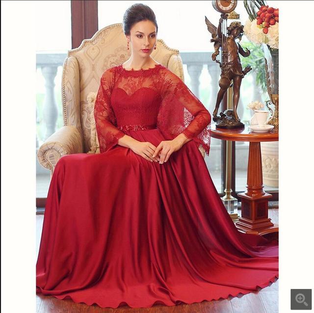 Ligne Femmes Longue A Soirée 2016 Cap Perlée Robes Rouge De Dentelle Pvxqvz1 a3e9ee3acea