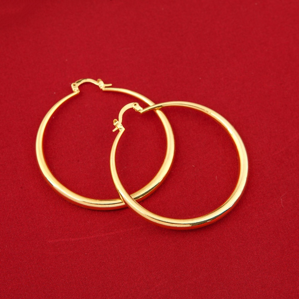 Wholesales Big Circle Hoop Earrings Elegant Golden Plated Basketball Wives  Earrings For Women Girls Jewelry(