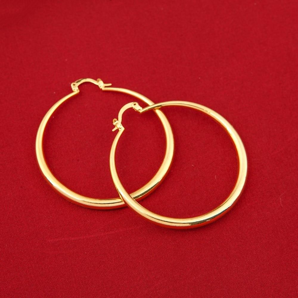 Wholesales Big Circle Hoop Earrings Elegant Golden Plated Basketball Wives Earrings For Women Girls Jewelry