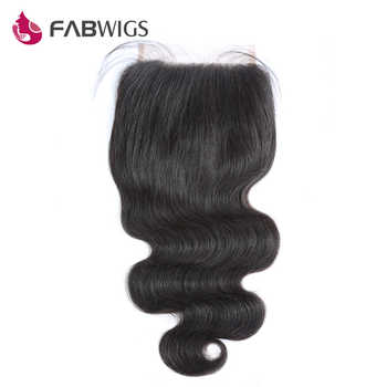 Fabwigs 5x5 Body Wave Lace Closure with Baby Hair Brazilian Hair Closures Bleached Knots Remy Hair Piece Free Shipping - DISCOUNT ITEM  40% OFF All Category