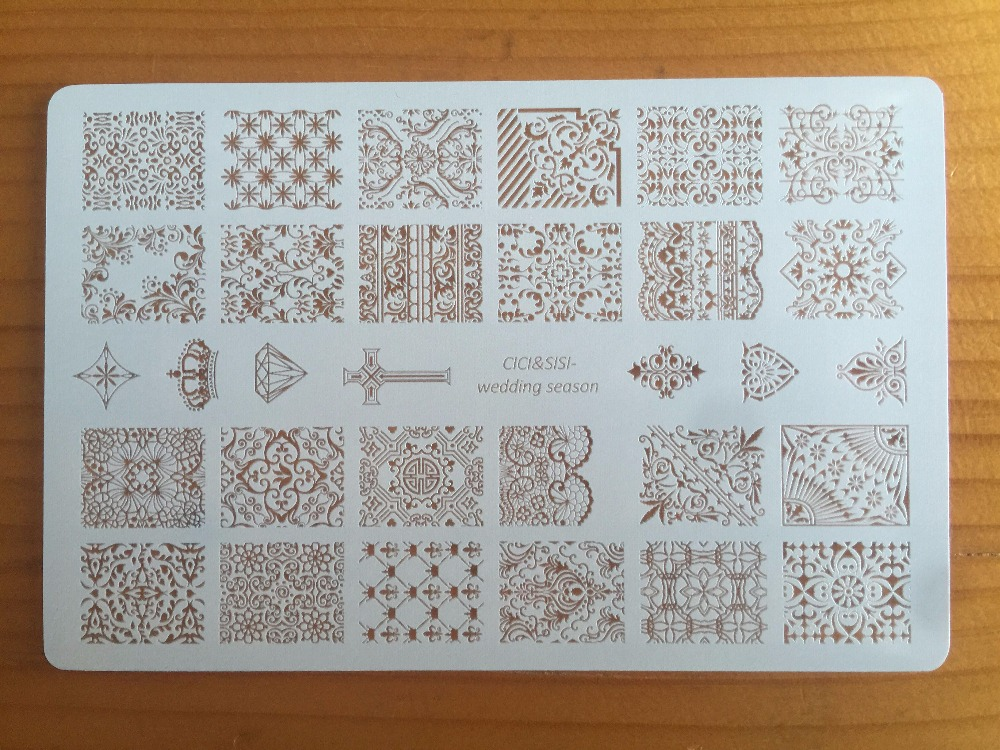 CICI&SISI Nail Art Stamping Plates Stamping Stamp Template Accessories Wedding Season