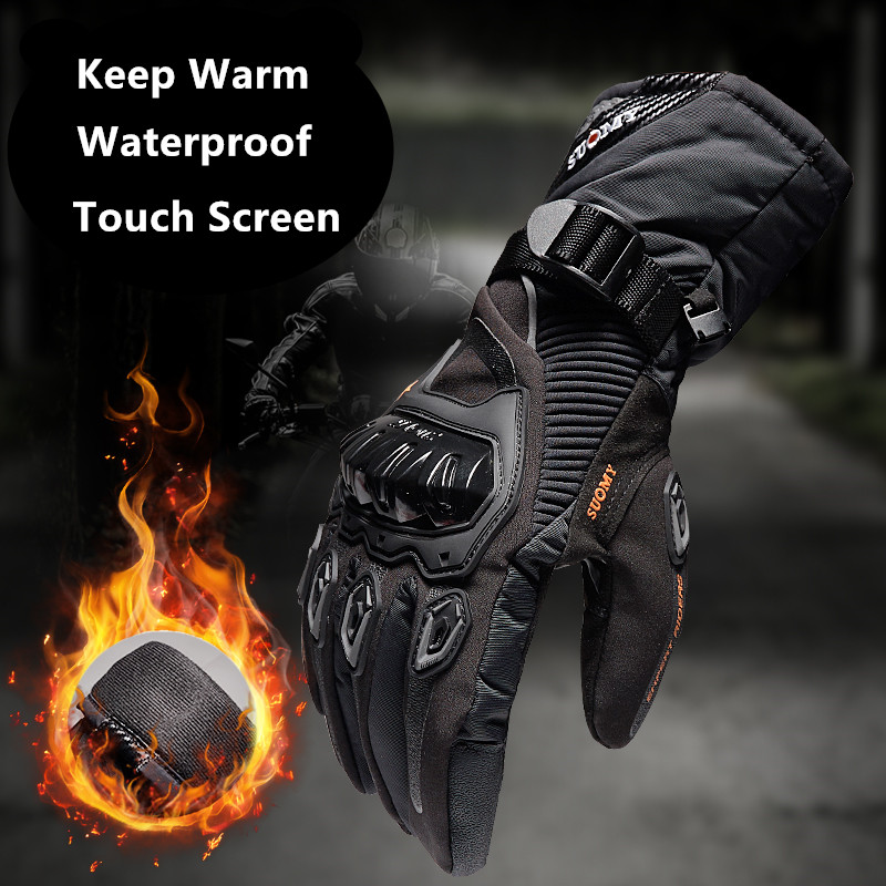 Suomy 2017 Winter warm motorradhandschuhe 100% Wasserdicht winddicht Guantes Moto Luvas Touchscreen Motosiklet Eldiveni