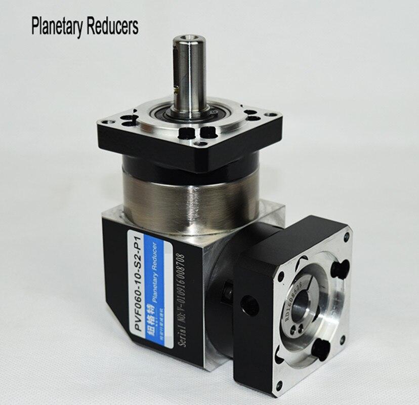 PVF60-L1 60mm 90 degrés à angle droit réducteur planétaire réducteur 3:1 à 10:1 pour 400 w 60 AC servo moteur