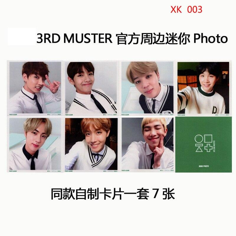 3RD MUSTER Album PHOTO Homemade Signature Card MINI-Card