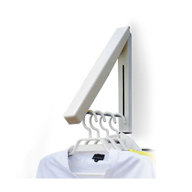 Foldable Clothes Wall Hanger Indoor Iron Retractable Hanger Multifunctional  Drying Rack Waterproof Coat Rack Home Supplies