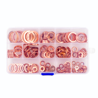 280 قطع 12 الأحجام الصلبة النحاس طوقا غسالات ختم الدائري تشكيلة مجموعة مع البلاستيك تركيبات CaseM5-M20 للهيدروليك