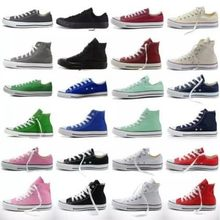 Womens Ladies Allstars Classic Authentic ChuckTaylor Ox Low High Top Casual Canvas Fashion Sneakers Athletic Shoes(China)