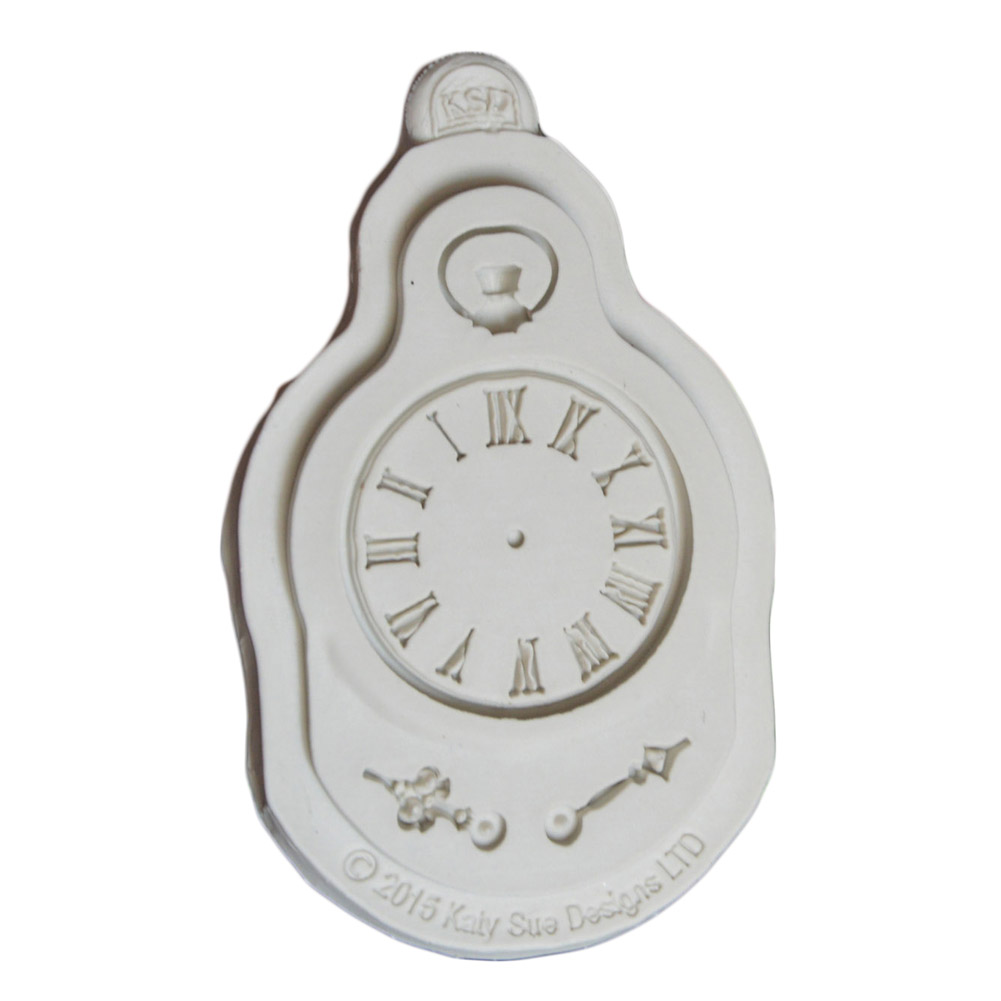 Silicone Mold Fondant Cake Mould Clock Pocket Watch Cupcake Decorating Tool Steam Punk Baking Kitchen Accessorie