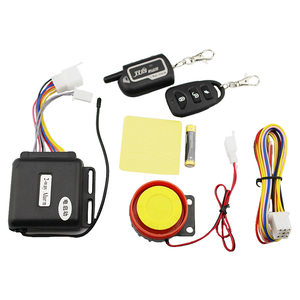 2 Way Motorcycle Anti-theft Alarm Remote Engine Start Two Security Scooter Moto Theft Protection Vibration Sensor