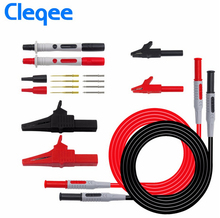 цена на Cleqee P1600A Test Lead kit Automotive Test Leads for multimeter Universal Multimeter test probe Alligator clip