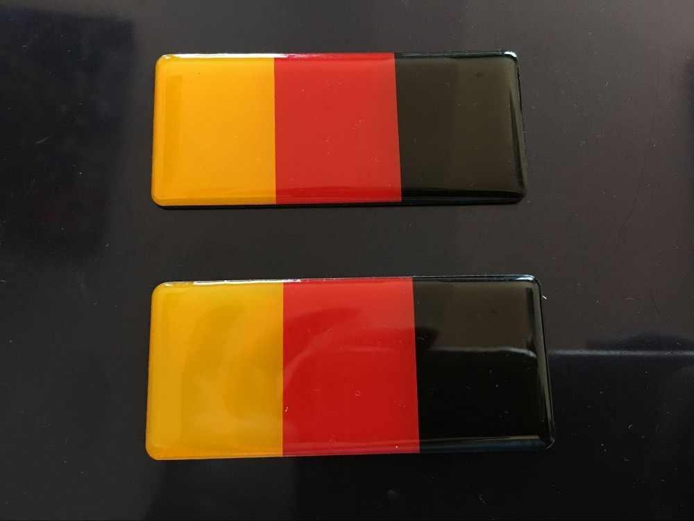 German Flag Grille Emblem Badge FIT AUDI A1 A3 A4 A5 A6 A7 RS3 RS 4 RS 5 RS7 for vw Volkswagen GOLF 6 7 CC POLO Passat bora
