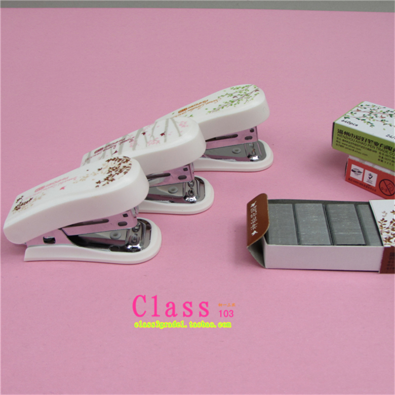 1PCS/LOT Wholesale mysterious garden 2138 mini stapler set of binding book binding machine stapler + 12 nails FREE SHIPPING