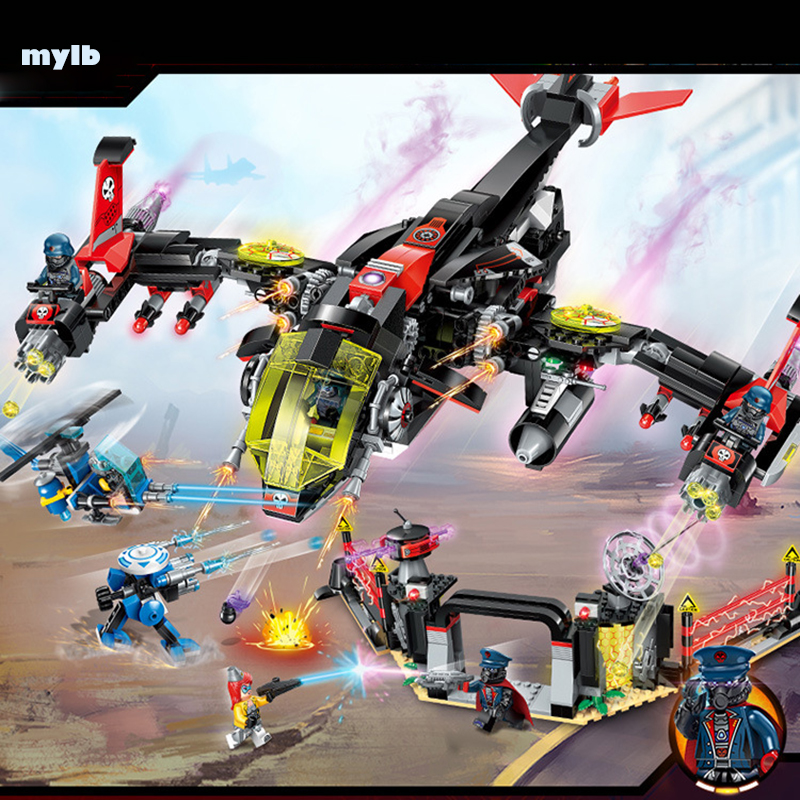 mylb new High Tech Era Night fighter 6 Figures model Educational Building Block Technic Bricks Toy For children Gift without box