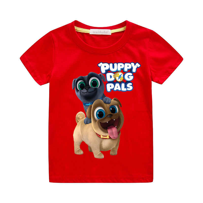Children Cartoon Puppy Dog Pals Print Tshirts Clothing Boys Girls Summer Cotton T-shirts Kids Funny Dog Tees Top Clothes ZA060
