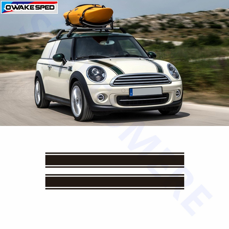 Racing Stripes Car Hood Sticker Auto Engine Cover Decals For Mini