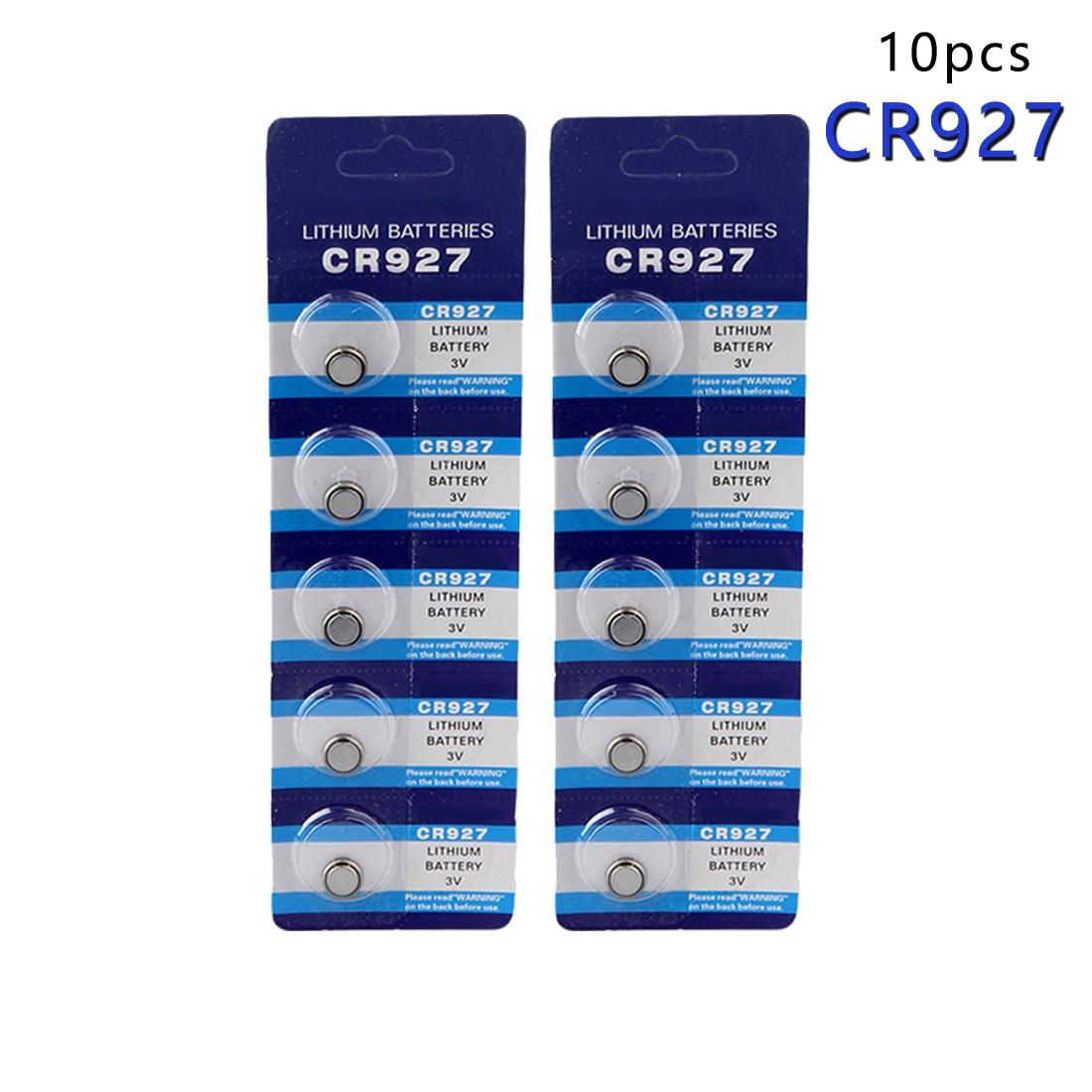 centechia Pro 10 Pcs 3V Lithium Coin Cells Button Battery CR927 DL927 BR927 ECR927 5011LC 927 gd li 1 cr1616 3v 50mah lithium button battery silver 5 pcs