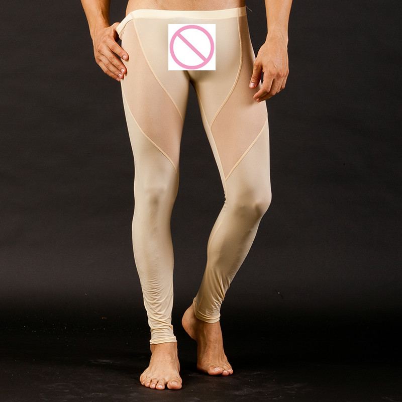 eea63bdf19bcdb Men's Sexy Ultra thin Long johns transparent Mesh See thru Underwear Pants  Tights Leggings for Autumn winter-in Long Johns from Underwear & Sleepwears  on ...