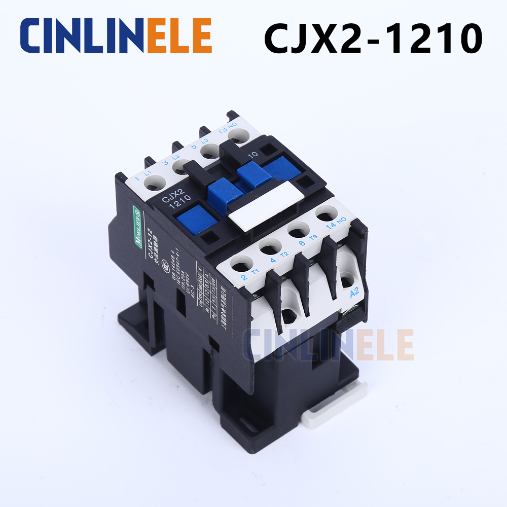 Contactor CJX2-1210 12A switches LC1 AC contactor voltage 380V 220V 110V Use with float switch cjx2 lc1 1210 25a 220v 660v ac contactor black white