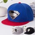 Moda unissex boné de beisebol superman metal (caixa de embalagem) hop chapéu camuflagem snapback gorras chapéu osso chapeau de super-heróis