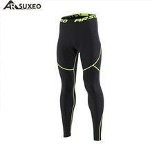 ARSUXEO Mens Winter Thermal Warm Up Fleece Compression Tights Cycling Base Layers Training Running Pants