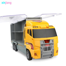 Big Truck & 6PCS Mini Alloy Diecast Car Model 1:64 Scale Toys Vehicles Carrier Truck Engineering Car Toys For Kids Boys }