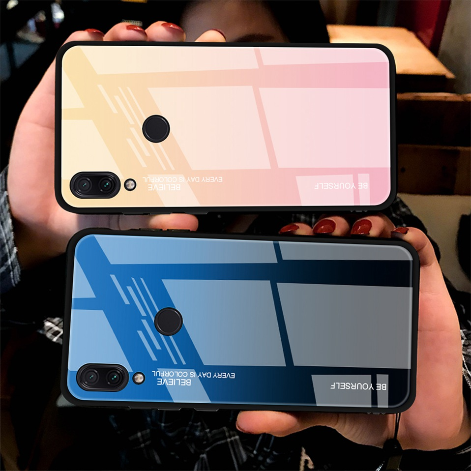 Tempered Glass Case For Xiaomi Redmi K20 Note 5 6 7 Pro 6A Cover Luxury Phone Xiomi Case For Xiaomi Mi 8 A2 Lite Redmi 5 Plus Coque (10)