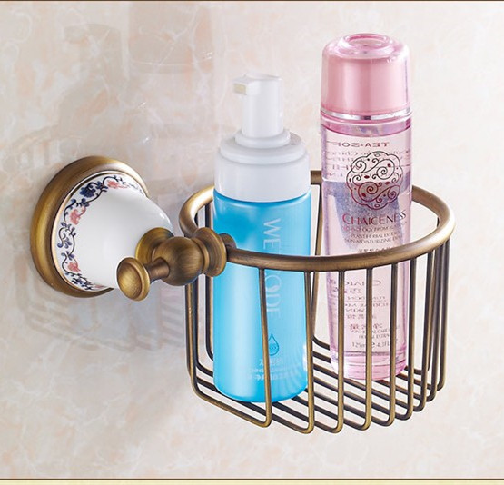 Vintage Creative Ceramic Design Antique Bronze Toilet Paper Holder/Bronze Paper Towel Holder,Roll Holder&Bathroom Storage Basket 24pcs makeup brushes set cosmetic make up tools set fan foundation powder brush eyeliner brushes leather case with pink puff