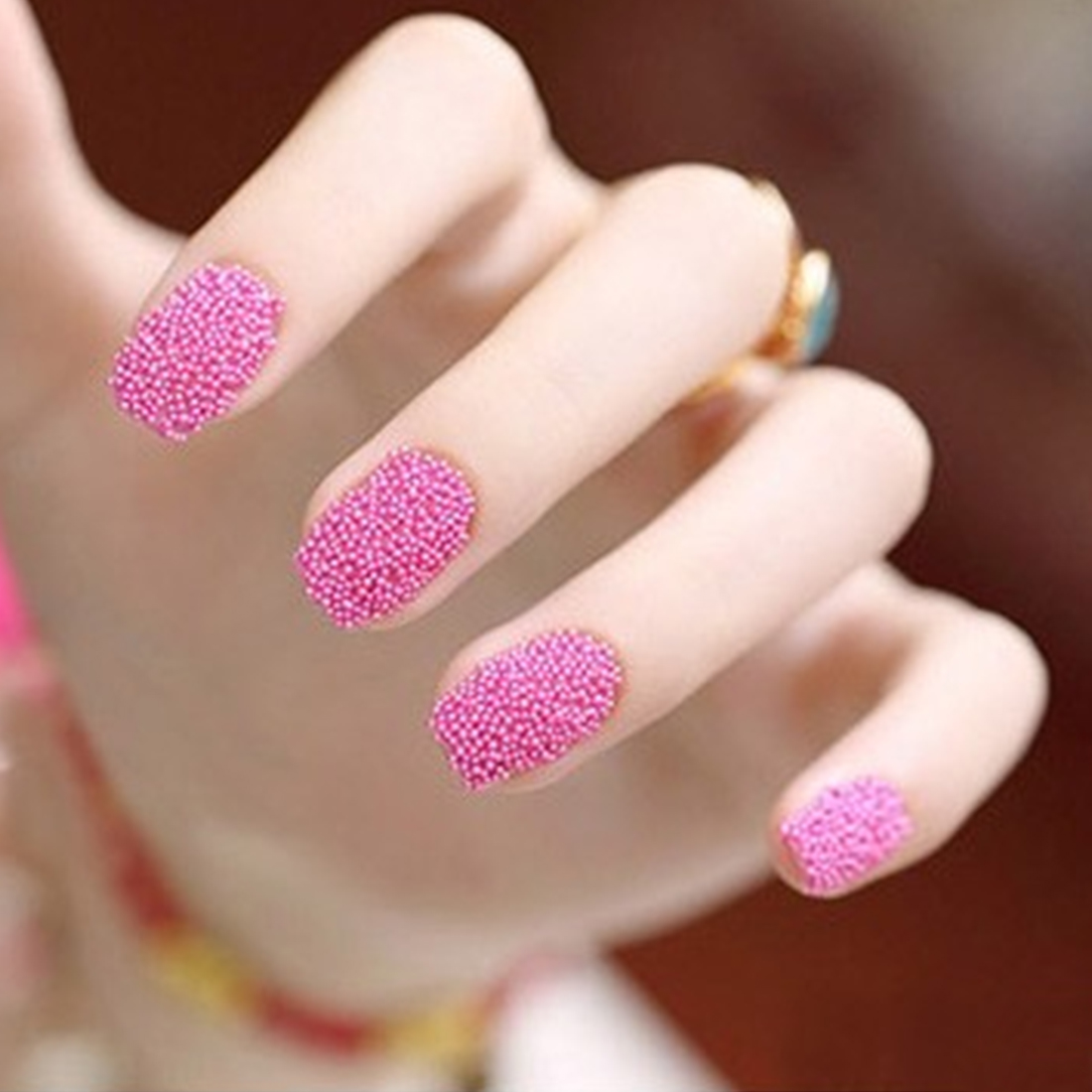 12 Color Nail Tools Steels Beads Studs For Nails Metal Caviar Design ...