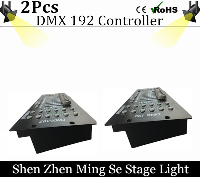 цена 2pcs/lots  International standard DMX 192 controller controller moving head beam light console DJ 512 dmx controller equipment онлайн в 2017 году