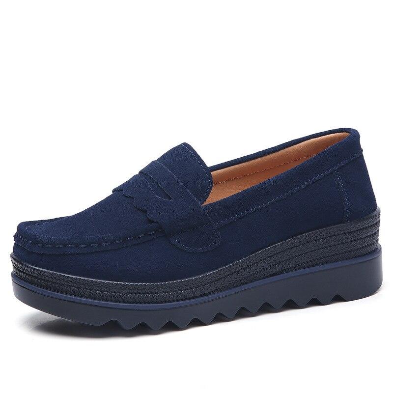 Femmes Dames Cuir Confortable Rond En Bout blue Chaussures Luxe De Black Base Occasionnels Caoutchouc 2018 Véritable grey Mode apricot Designers BAtqwxFqX