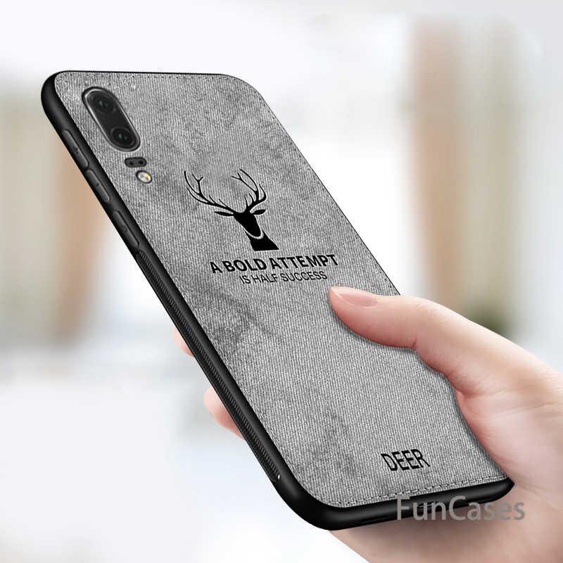 מקרה עבור Huawei P20 P10 לייט Mate 20 10 פרו נובה 3 3i 3E P חכם P10 בתוספת P8 לייט בד צבי כיסוי לכבוד 8X מקסימום 10 8C 8 לייט