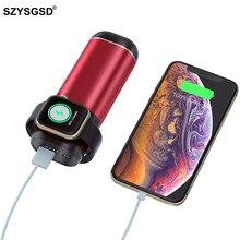 3 In1 Беспроводной Зарядное устройство Мощность банка для iPhone airpods Apple Watch Series 4/3/5200 mAh Мощность банк Портативный мобильного телефона Зарядное устройство