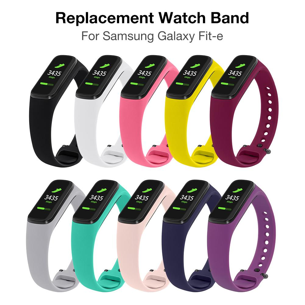 Silicone Watch Strap Replacement Sport Wrist Band For Samsung Galaxy Fit-e/R375  Replacement Sport Wrist Band For Smart Bracelet